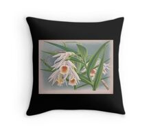 Iconagraphy of Orchids Iconographie des Orchidées Jean Jules Linden V4 1888 0190 Throw Pillow