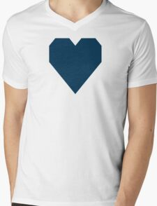 Prussian Blue Mens V-Neck T-Shirt