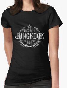 Jungkook - BTS Member Logo Series (White) Womens Fitted T-Shirt