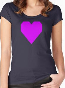 Psychedelic Purple Women's Fitted Scoop T-Shirt