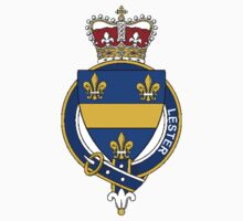 Coat of arms (family crest) for last-name or surname Lester (Ireland) . Heraldry banner for your name. T-Shirt