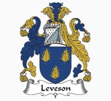Coat of arms (family crest) for last-name or surname Leveson . Heraldry banner for your name. T-Shirt