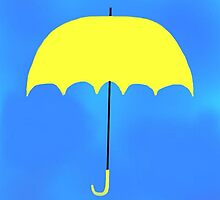 The Yellow Umbrella by sierrachristy