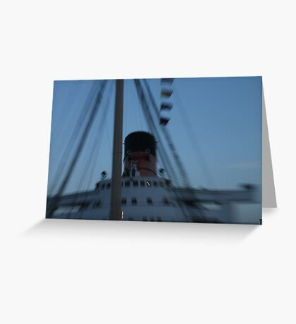 Queen Mary Time Warp Greeting Card