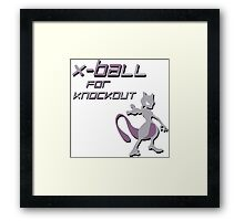 X-Ball for Knockout Mewtwo Framed Print