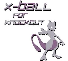 X-Ball for Knockout Mewtwo Photographic Print