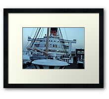 Queen Mary Superstructure  Framed Print