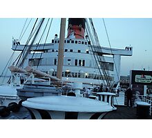 Queen Mary Superstructure  Photographic Print