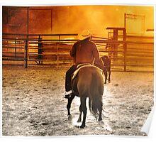 Vaquerro 4 Fort Worth Texas Stock Yards Poster