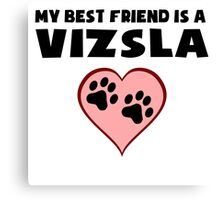 My Best Friend Is A Vizsla Canvas Print
