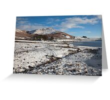 Embsay Crag In Winter Greeting Card