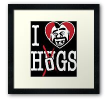 I LOVE HOGS COC Framed Print