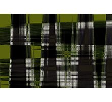 Green Plaid Photographic Print