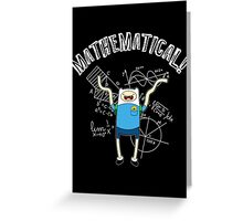 adventure time mathematical Greeting Card