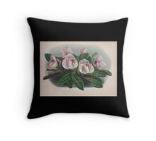 Iconagraphy of Orchids Iconographie des Orchidées Jean Jules Linden V4 1888 0030 Throw Pillow