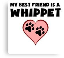 My Best Friend Is A Whippet Canvas Print