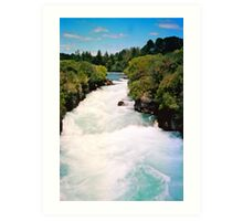 Haku Falls New Zealand Art Print