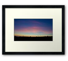 Pink clouds in the sky  Framed Print