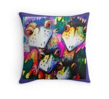 Emu fam Throw Pillow