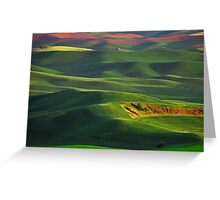 Sunset on the Palouse Greeting Card