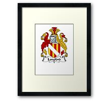 Coat of arms (family crest) for last-name or surname Longford . Heraldry banner for your name. Framed Print