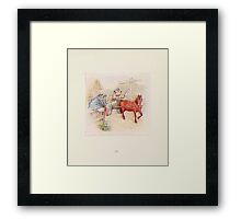 Cecily Parsley's Nursery Rhymes Beatrix Potter 1922 0023 This Pig Went to Market Framed Print