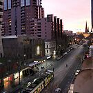 Melbourne City Sunrise  by Margaret Stanton