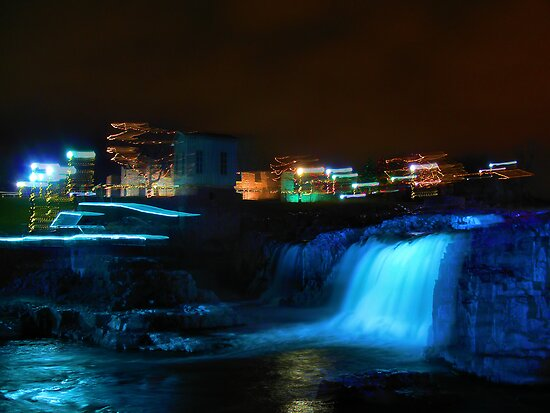 Christmas At The Falls-Sioux Falls, SD by hastypudding