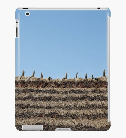 thatch roof background iPad Case/Skin