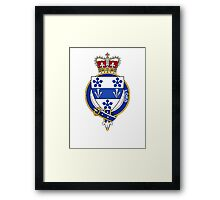 Coat of arms (family crest) for last-name or surname Lord (England) . Heraldry banner for your name. Framed Print
