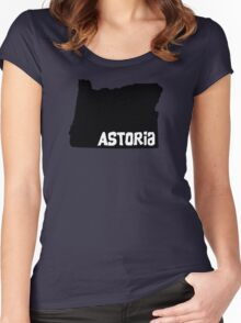 Astoria Oregon State Women's Fitted Scoop T-Shirt
