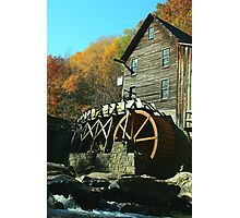 Glade Creek Grist Mill - Babcock State Park Photographic Print