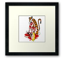 calvin and hobbes death Framed Print