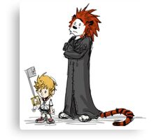 calvin and hobbes heroes Canvas Print