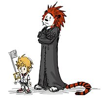 calvin and hobbes heroes Photographic Print