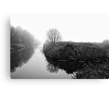 Foggy Fens Canvas Print