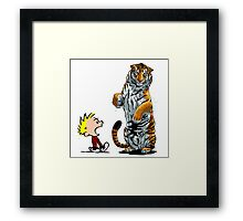 calvin and hobbes hoam Framed Print