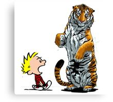 calvin and hobbes hoam Canvas Print