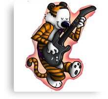 calvin and hobbes gitars Canvas Print