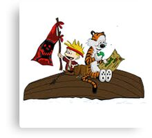 calvin and hobbes pirates Canvas Print