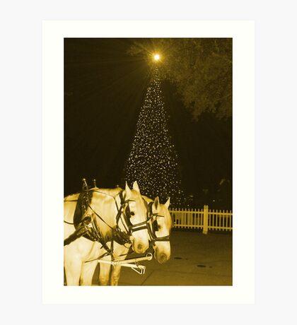 Christmas sleigh bells ringing Art Print