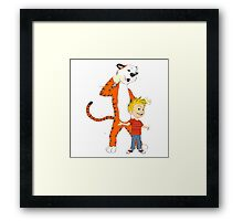 calvin and hobbes clip Framed Print