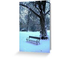 Too cold to sit & enjoy the scenery today! Greeting Card