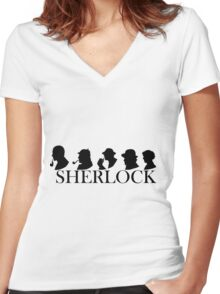 The Generations of Sherlock Holmes Women's Fitted V-Neck T-Shirt