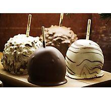 Chocolate Apples Photographic Print