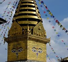 Monkey Temple Stupa by koreanbronze