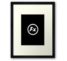 Fx Black Framed Print