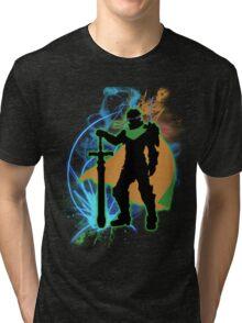 Super Smash Bros. Green Ike Silhouette Tri-blend T-Shirt