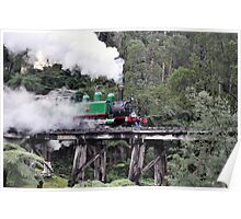 Puffing Billy on historical Trestle Bridge, Dandenong Ranges Poster