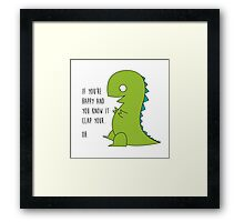 OH T-Rex - Arms problem here Framed Print